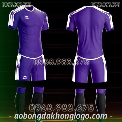 Áo bóng đá ko logo Zuka Basix màu tím