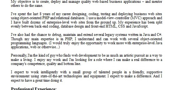 software developer resume format for job application in