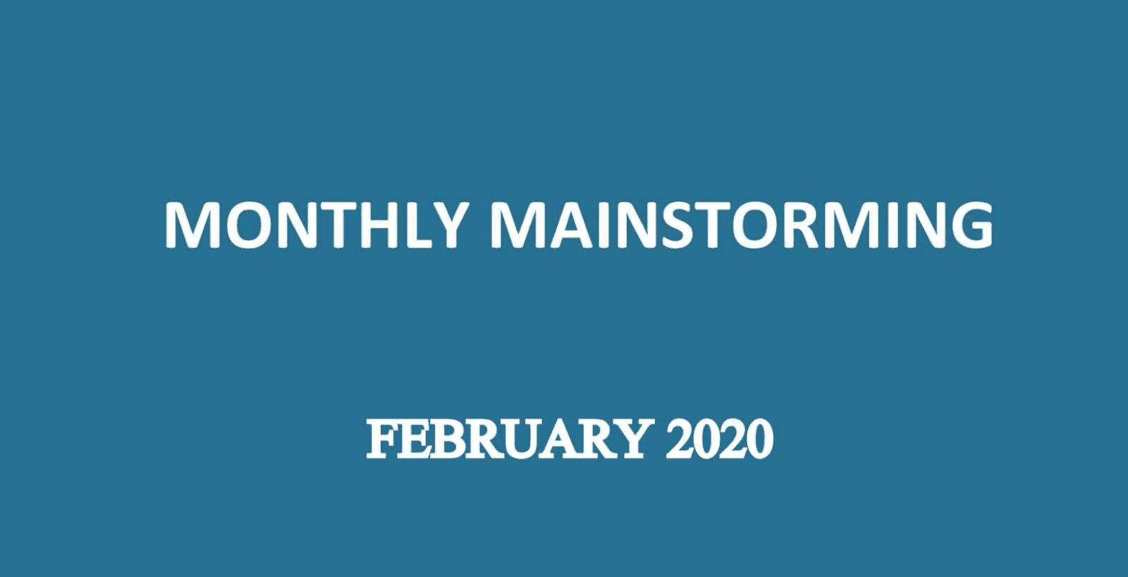 UPSC Mainstorming February 2020