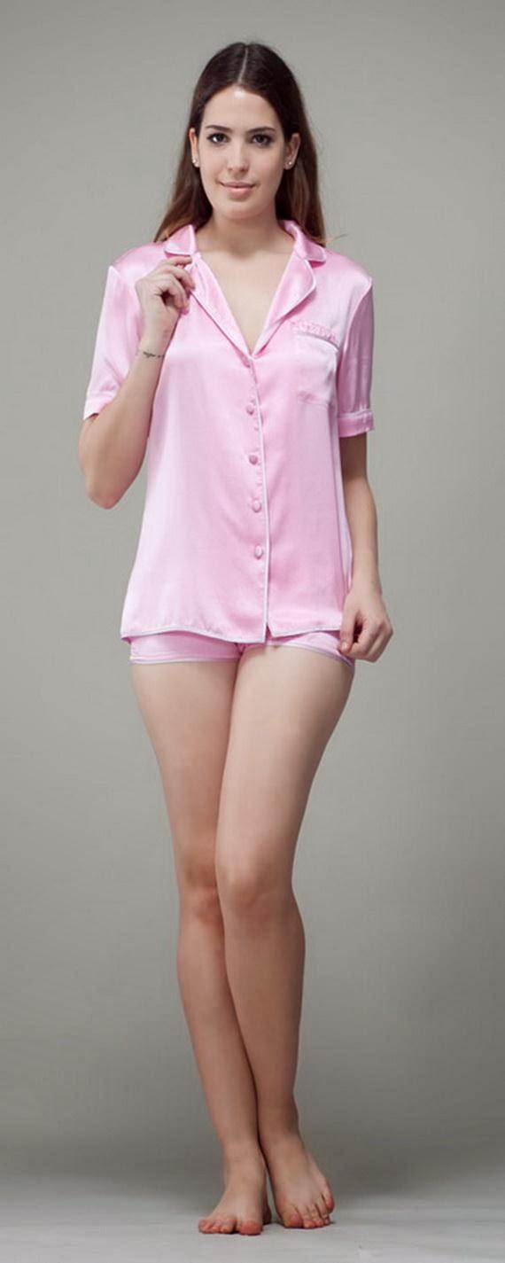 Silk Short Night Wear Nighty Dress For Girls Fashion In Bed Photos