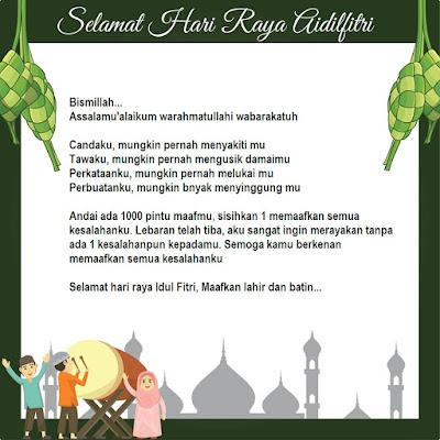 Ucapan Idul Fitri paling menyentuh hati (kata-kata lebaran)
