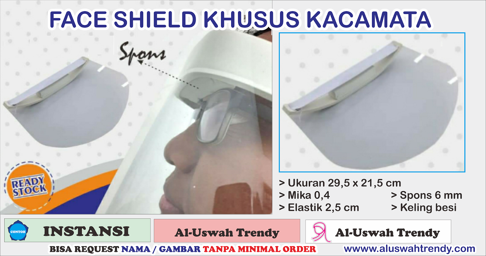 Face Shield Khusus Orang Ber kacamata