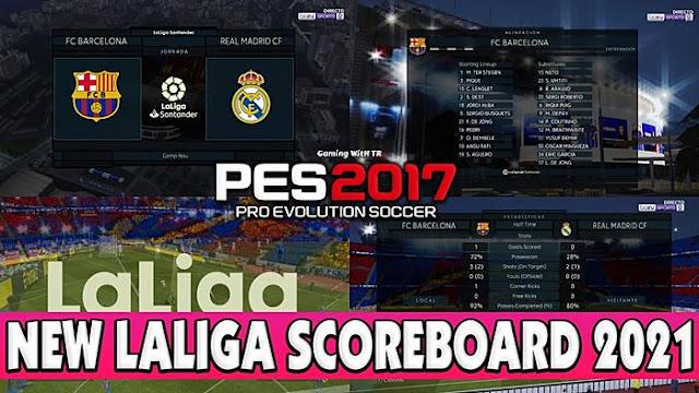 PES 2017 LaLiga Scoreboard 2021