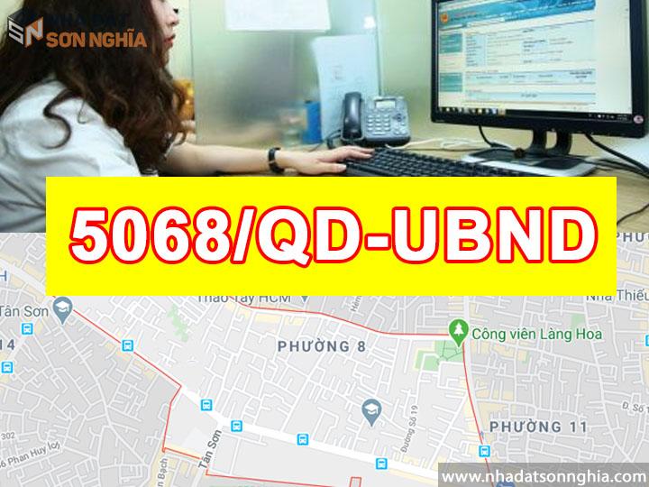 Quyết định số 5068/QĐ-UBND