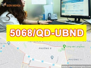 Quyết định số 5068/QĐ-UBND xây dựng lộ giới đường hẻm tỉ lệ 1/500 phường 8 quận Gò Vấp
