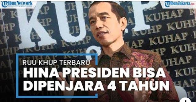 Draf RUU KUHP Dipublikasikan, Hina Presiden di Media Sosial Bisa Dipenjara 4 Tahun