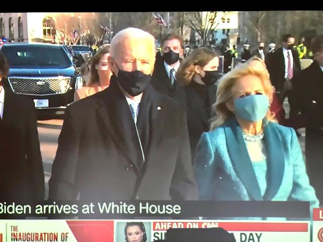 President Joe and Dr. Jill Biden, Inauguration day