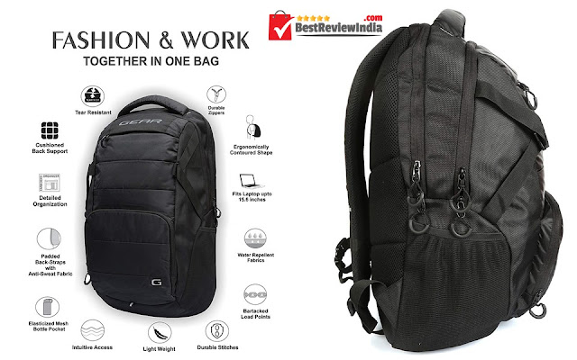 Gear 30 Ltrs Black Laptop Backpack