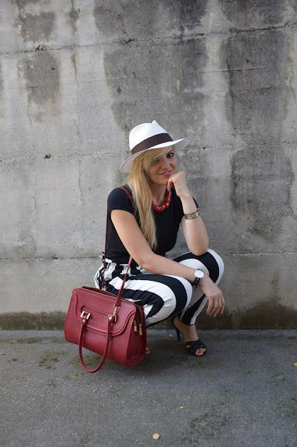 outfit cappello panama come abbinare il cappello panama how to wear panama hat panama hat outfit outfit agosto 2016 mariafelicia magno fashion blogger colorblock by felym fashion blog italiani fashion blogger italiane blog di moda italiani outfit estivi