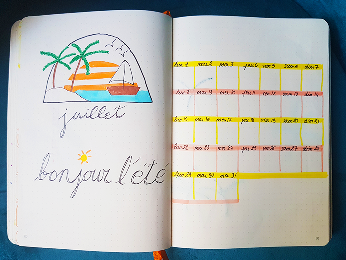 Bullet Journal Plan With Me Juillet Blog Nimoise Nimes 02