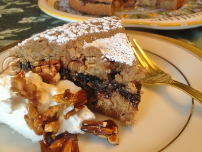 Chestnut Almond Torte with Date Prune Filling
