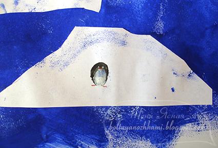 как нарисовать антарктиду, как нарисовать пингвина
