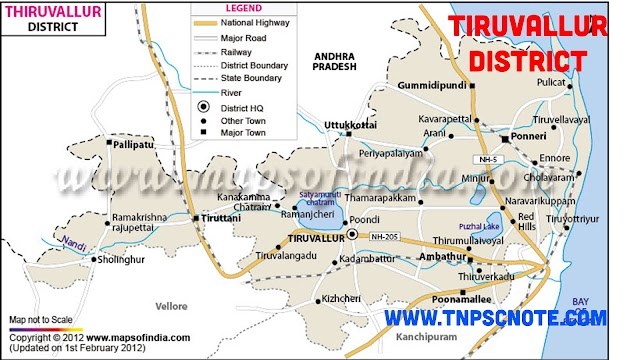 Thiruvallur District Information, Boundaries and History from Shankar IAS Academy