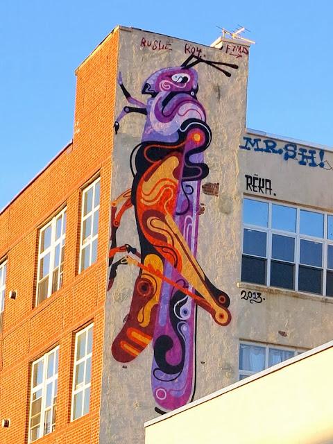 Australian Street Artist Reka Stops By New York City to paint in Bushwick and Queens - November 2013. 2