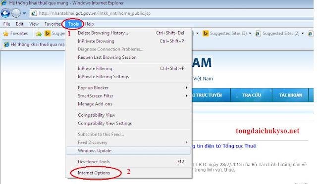 Lỗi không đăng nhập được vào nộp thuế điện tử