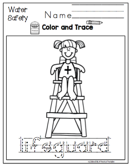 kindergarten safety coloring pages - photo#45
