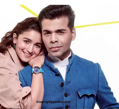 Alia Bhatt with Karan Johar