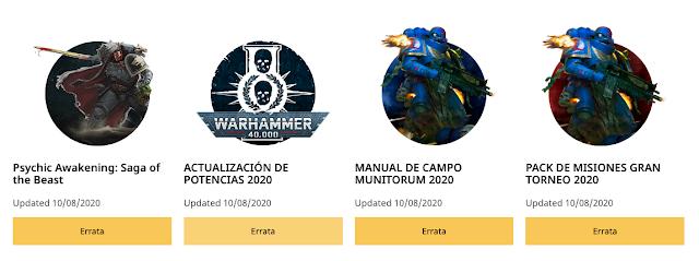 Actualizaciones Potencia Warhammer 40,000