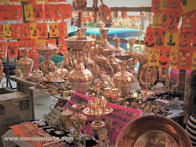 Copper Handicrafts products in Santa Clara del Cobre, Michoacán