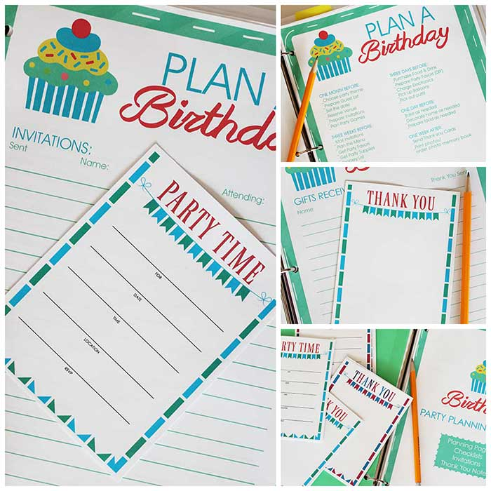 All In One Birthday Party Planner Printable Set