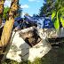 Acidente entre carro e dois caminhões deixa três feridos na PR-438
