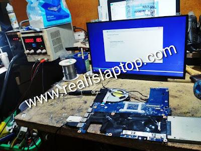 service laptop lenovo g40-70 tidak mau tampil di layar