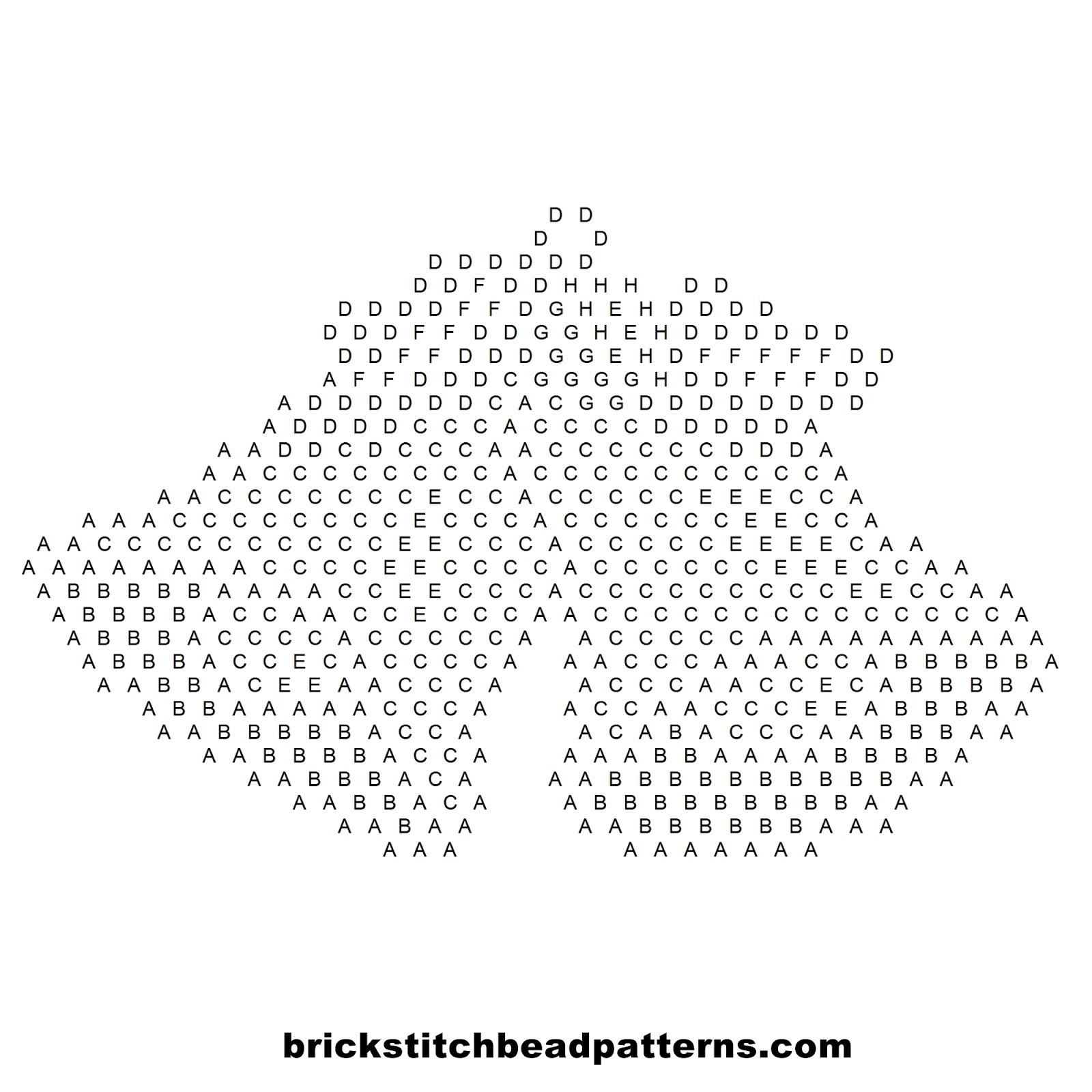 Brick Stitch Bead Patterns Journal: Free Silver Bells