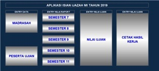 Aplikasi isian Ijazah MI tahun 2019