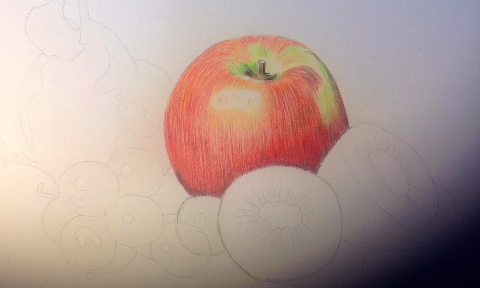 Dibujo De Un Lapiz De Color: 3º ESO : BODEGÓN CON LÁPICES DE COLORES