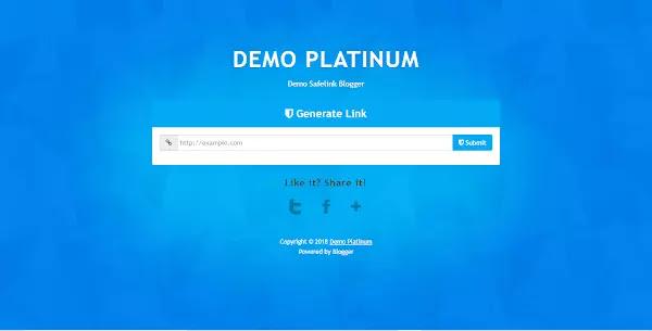 SafeLink Platinum Blogger Template Download Free