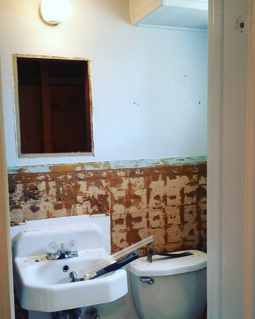 Our Very Small Bathroom Demo