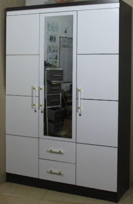 Lemari Pakaian 3 Pintu Modern Minimalis