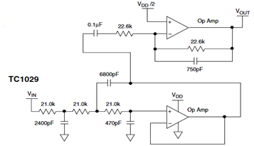 Butterworth Filter Circuit Diagram for Voice Signal Applications Recovery
