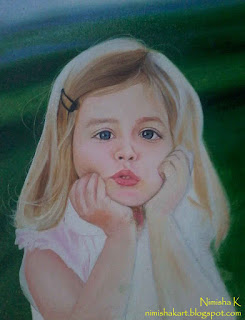 portrait of a child oil painting by nimisha k
