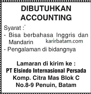 Lowongan Kerja PT. Elsindo International Persada