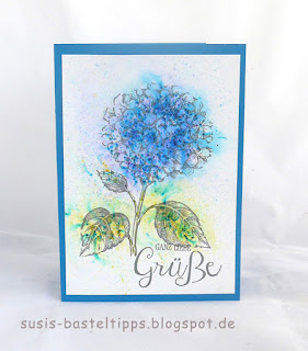 hydrangea hortensie mit brushos, Karte von Stampin' Up! Demonstratorin in Coburg