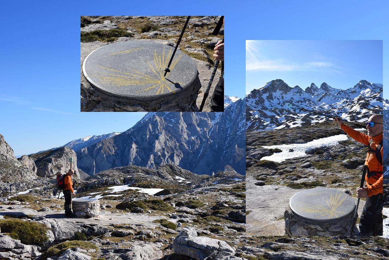 tabla de piedra con las cumbres