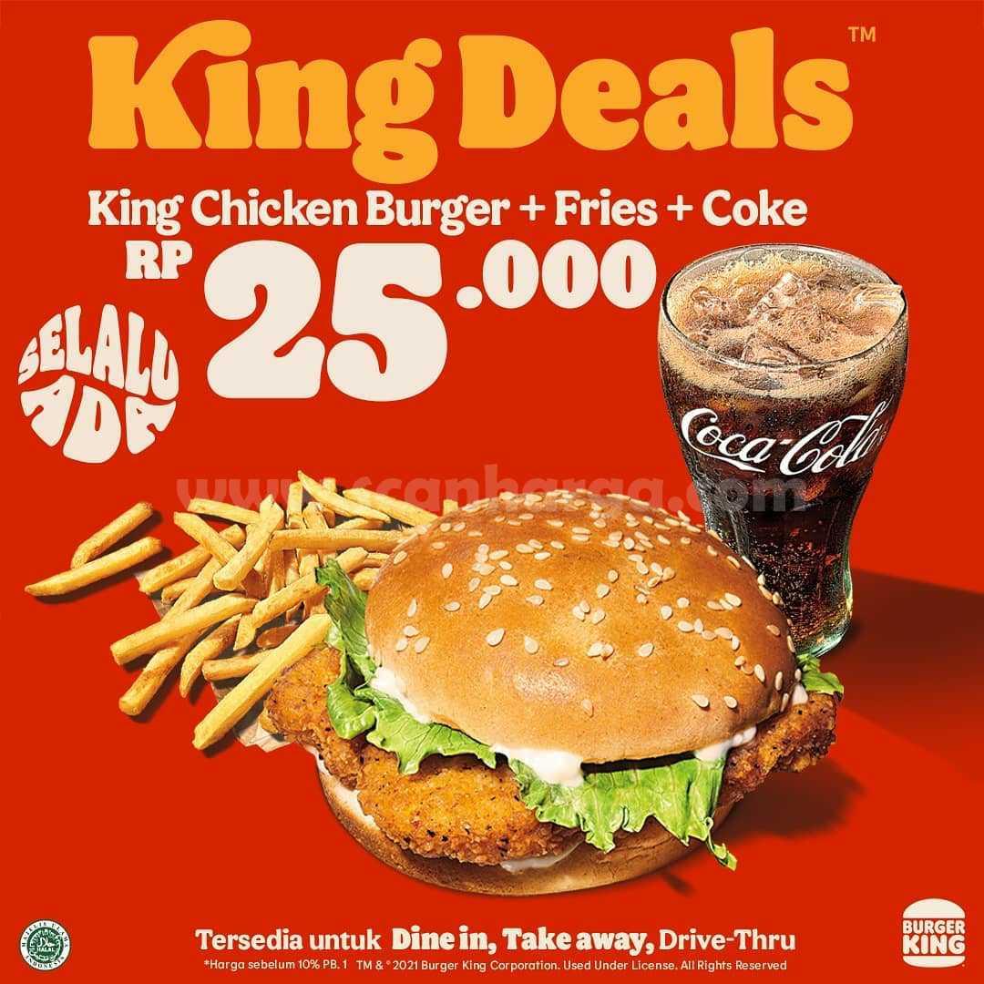 Promo Burger King - Menu King Deals mulai dari Rp 19.091