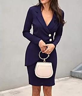 V-neck office dress