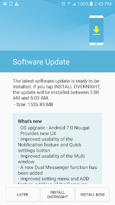Samsung Galaxy C7 Pro gets Android Nougat Update in India