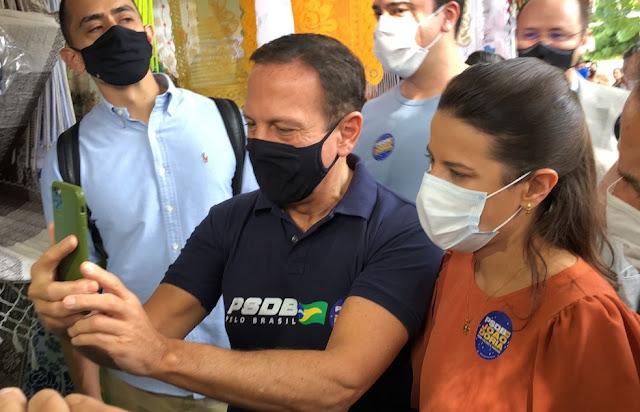 POLÍTICA: João Doria afirma que Raquel Lyra é sua candidata ao governo de Pernambuco