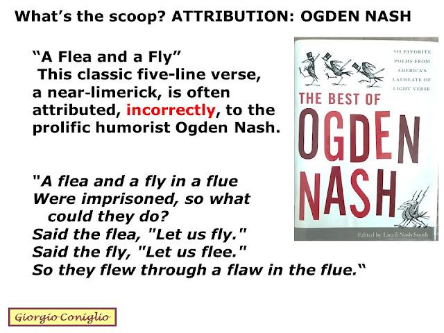 authorship; limerick; poetry; attribution; Ogden Nash; Giorgio Coniglio