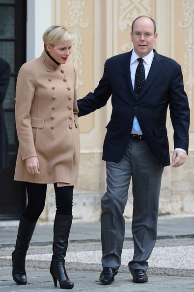 Princess Charlene of Monaco and Prince Albert II of Monaco attend the Christmas Celebration