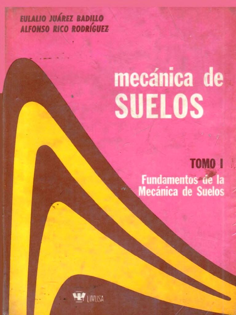 Mecánica de suelos, Tomo I: Fundamentos de la Mecánica de suelos – Eulalio Juárez Badillo y Alfonso Rico Rodríguez