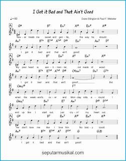chord i got it bad (and that ain't good) lagu jazz standar