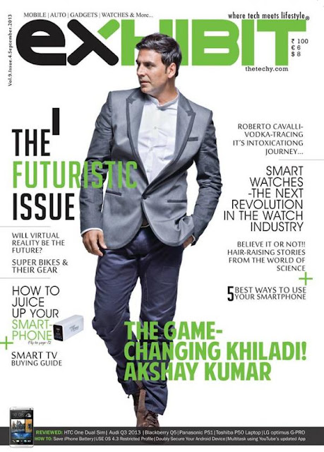 The Game Changing Khiladi -Akshay Kumar on the cover of Exhibit