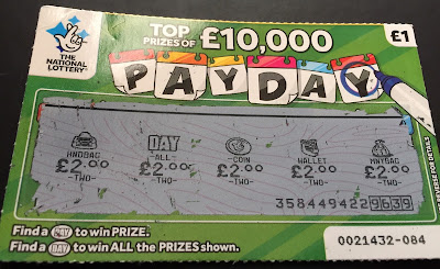 £1 Pay Day Scratch Card Win