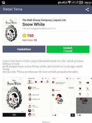download tema line gratis