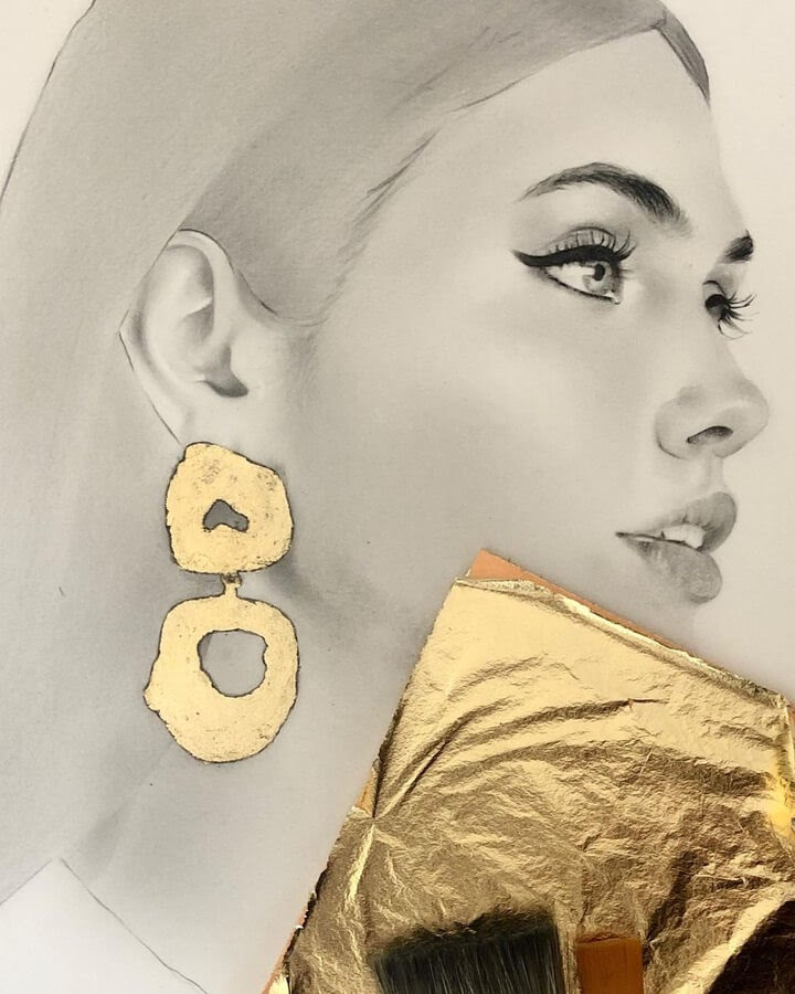05-Charcoal-and-gold-leaf-Anna-Shahmirian-www-designstack-co