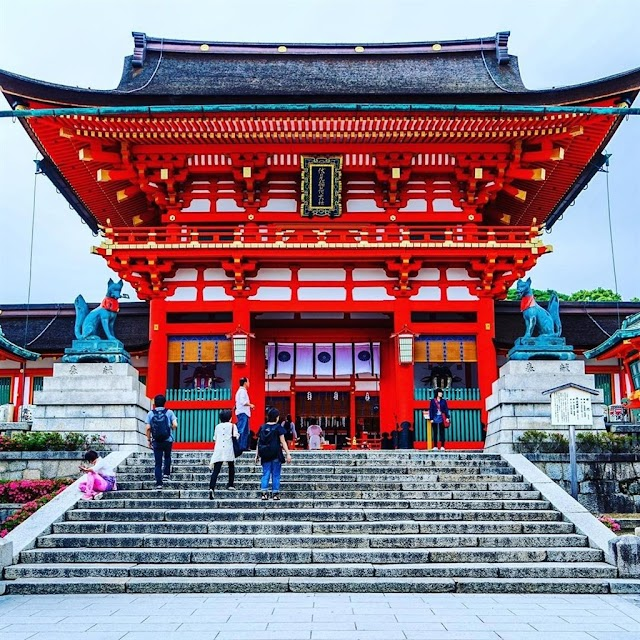 The temples have beautiful views in Japan